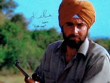 Kabir Bedi Autograph Signed Photo - Octopussy